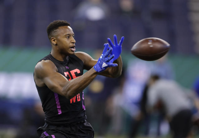 The Cowboys may look to SMU wide receiver Courtland Sutton to fill Dez Bryant's void. (AP)