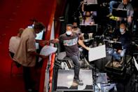 Each character in Belgian composer Kris Defoort's opera has a musical style reflecting their own quest for identity, a challenge for conductor Kwame Ryan (AFP/François WALSCHAERTS)