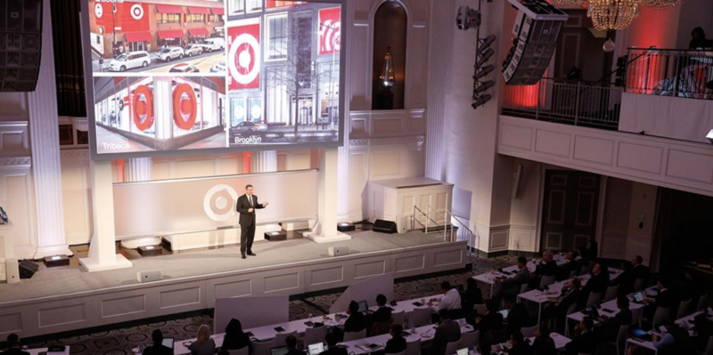 Target CEO Brian Cornell on stage at an investor event in New York City on February 28, 2017.