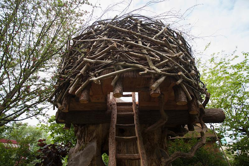 An eyrie for wild children, in the Back to Nature Garden co-designed by the Duchess of Cambridge.