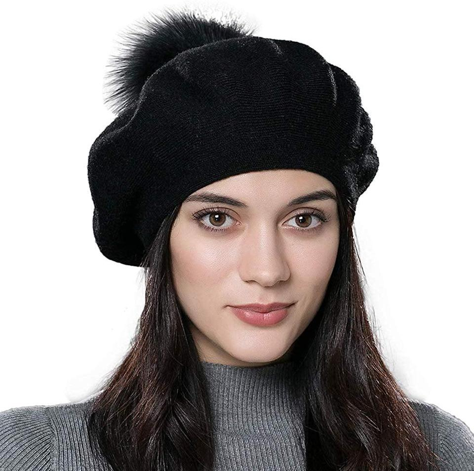 """<p>This <a href=""""https://www.popsugar.com/buy/Winter-French-Beret-Hat-505257?p_name=Winter%20French%20Beret%20Hat&retailer=amazon.com&pid=505257&price=19&evar1=fab%3Aus&evar9=36125225&evar98=https%3A%2F%2Fwww.popsugar.com%2Ffashion%2Fphoto-gallery%2F36125225%2Fimage%2F46930076%2FWinter-French-Beret-Hat&list1=gifts%2Choliday%2Cwinter%2Cgift%20guide%2Cwinter%20fashion%2Choliday%20fashion%2Cfashion%20gifts%2Cgifts%20for%20women&prop13=mobile&pdata=1"""" rel=""""nofollow noopener"""" class=""""link rapid-noclick-resp"""" target=""""_blank"""" data-ylk=""""slk:Winter French Beret Hat"""">Winter French Beret Hat</a> ($19) is definitely on our wish list.</p>"""