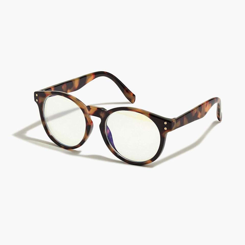 <p>These <span>J.Crew Tortoise Blue Light Glasses</span> ($10) are modern and stylish.</p>