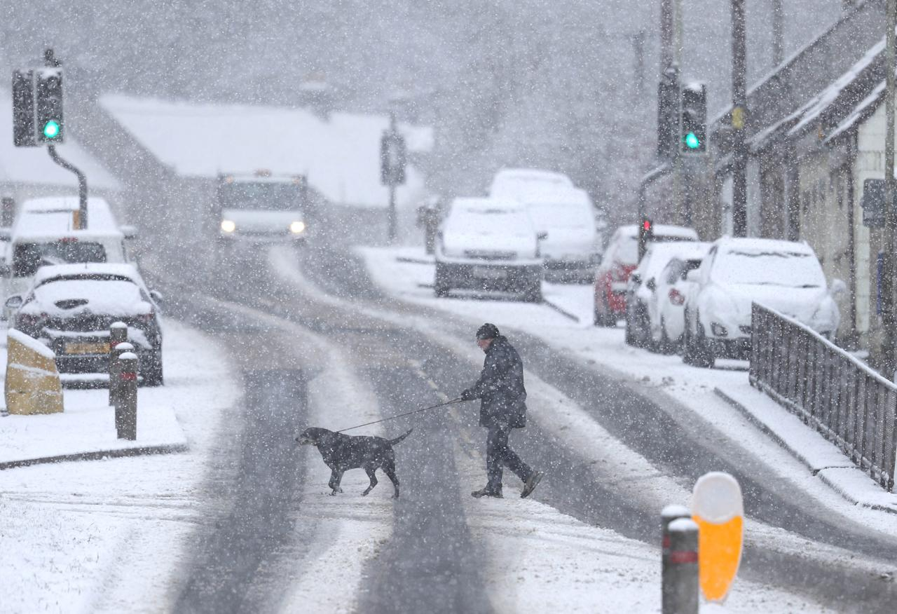 <p>Parts of Britain woke up to snow on Sunday morning. [Picture: PA] </p>