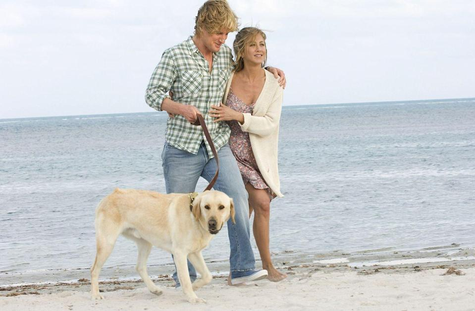 "<p>Have every single tissue in the house nearby for this one. Aniston and Owen Wilson co-star in this story of a mischievous dog and the couple that raise him. You will laugh...but you'll also cry many, many tears. We all need that sometimes.</p><p><a class=""link rapid-noclick-resp"" href=""https://www.amazon.com/Marley-Me-Owen-Wilson/dp/B004YHP6VI/ref=sr_1_1?tag=syn-yahoo-20&ascsubtag=%5Bartid%7C10063.g.36311626%5Bsrc%7Cyahoo-us"" rel=""nofollow noopener"" target=""_blank"" data-ylk=""slk:WATCH NOW"">WATCH NOW</a></p>"