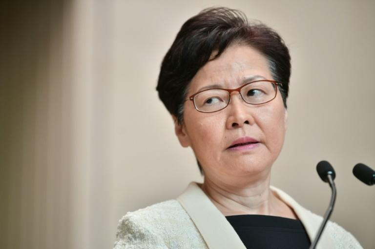 Hong Kong Chief Executive Carrie Lam has been under intense pressure (AFP Photo/Anthony WALLACE)