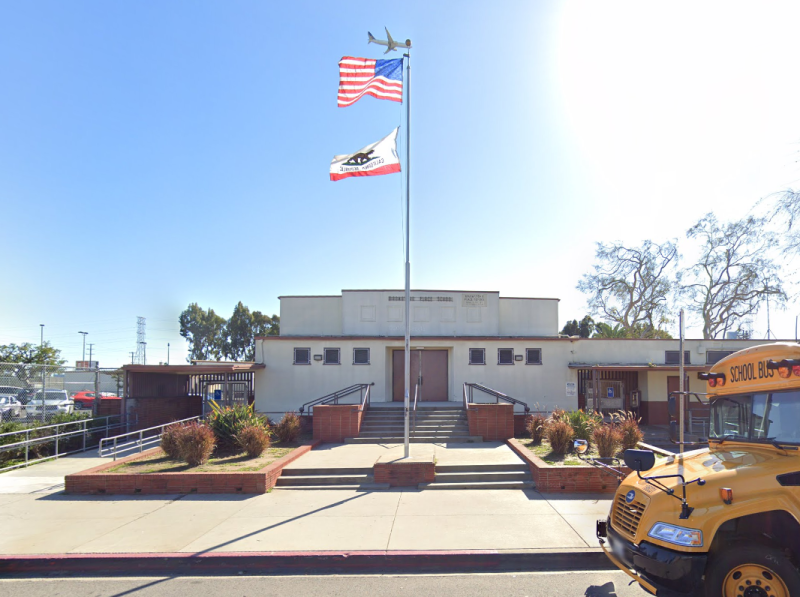 School in Los Angeles where eight-year-old was allegedly forced to wee himself and wear bin bags.