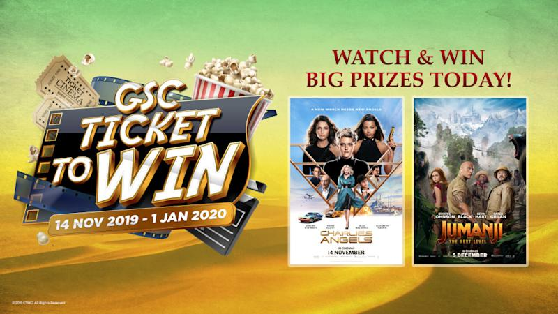 Watch 'Charlie's Angels' or 'Jumanji: The Next Level' at GSC Cinemas to stand a chance to win a round trip for two to Dubai. — Picture courtesy of GSC Cinemas