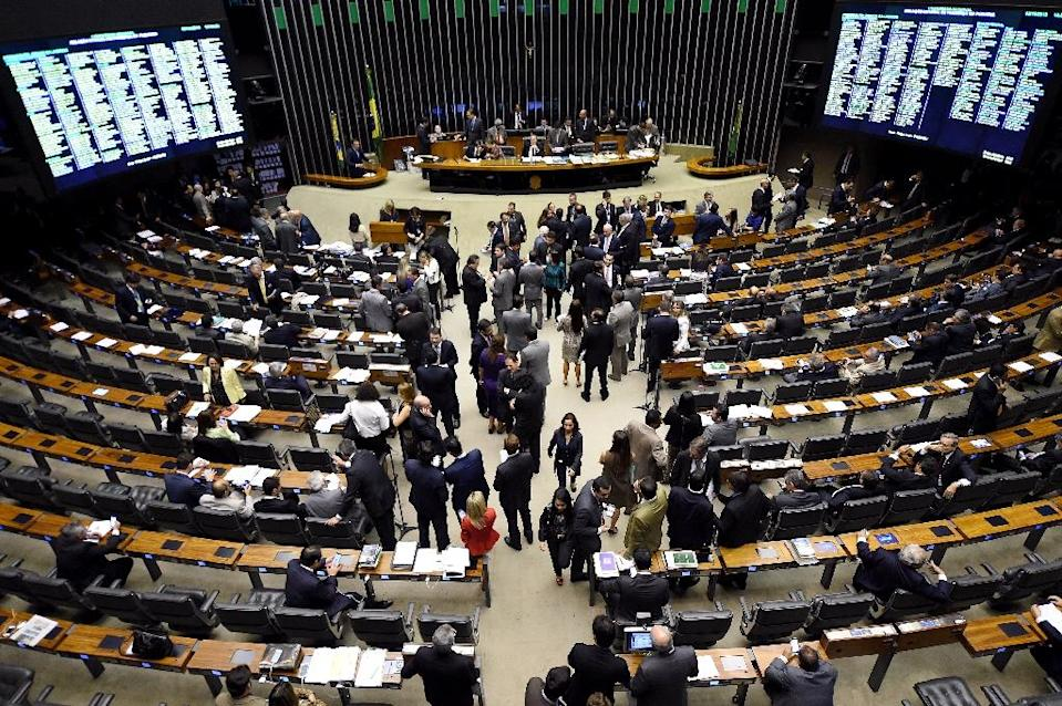 General view of the plenary of the National Congress in Brasilia, on December 2, 2015 (AFP Photo/Evaristo Sa)