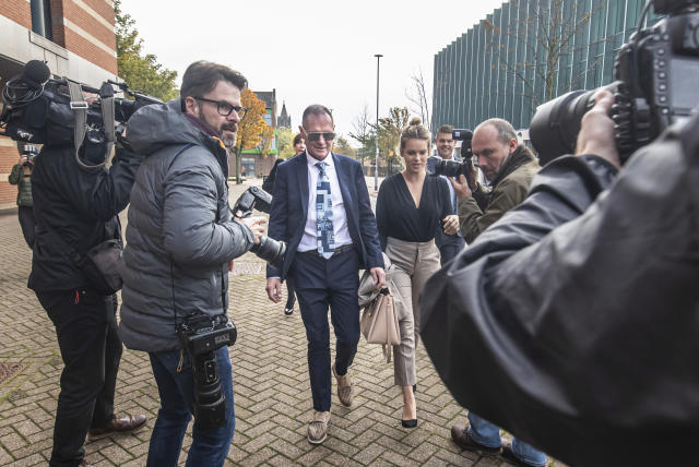 Gascoigne arrives at Teesside Crown Court (Credit: Getty Images)