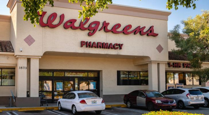 Walgreens (WBA) store exterior and sign in Pompano Beach, Florida
