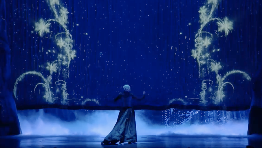 Much of the magic comes from animated projections.