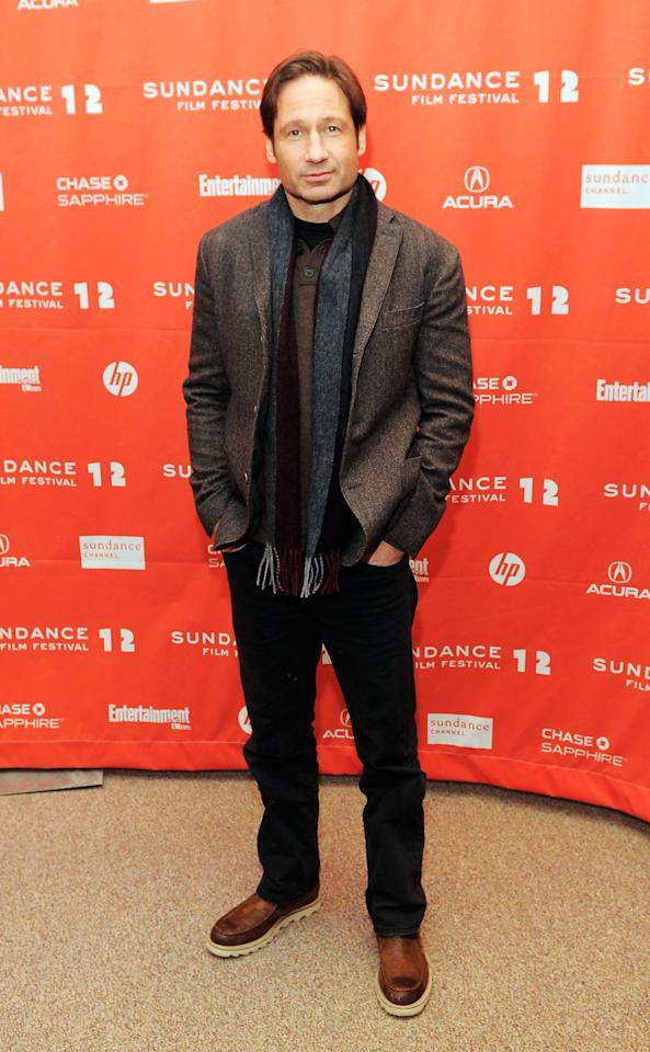 "PARK CITY, UT - JANUARY 24:  Actor David Duchovny attends the ""GOATS"" premiere during the 2012 Sundance Film Festival held at Eccles Center Theatre on January 24, 2012 in Park City, Utah.  (Photo by Jemal Countess/Getty Images)"