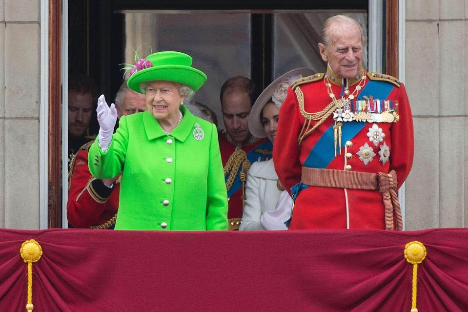 Philip was in the hospital during the queen's Diamond Jubilee celebrating her 60-year reign in 2012, but he was on the balcony for her grand 90th birthday celebrations in 2016.