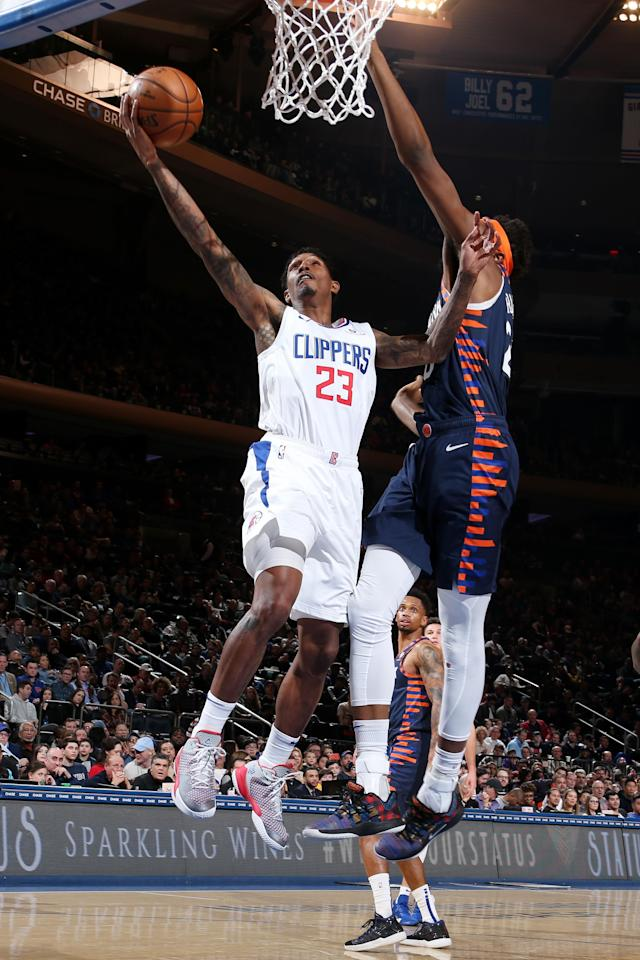 NEW YORK, NY MARCH 24: Lou Williams #23 of the LA Clippers shoots the ball against the New York Knicks on March 24, 2019 at Madison Square Garden in New York City, New York. (Photo by Nathaniel S. Butler/NBAE via Getty Images)