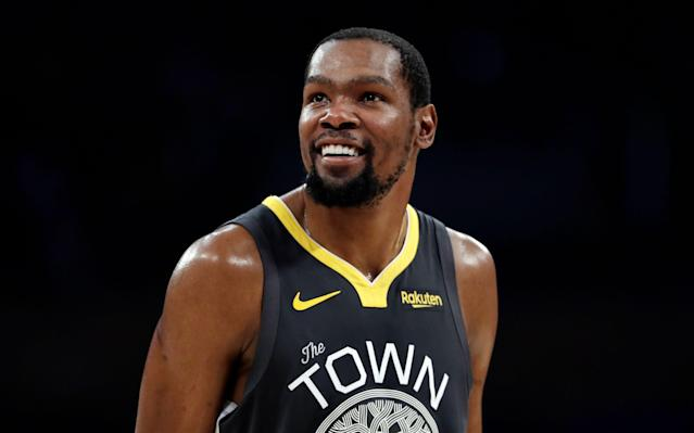 Kevin Durant explained his social media obsession after his latest feud with Chris Broussard. And really — it's hard to blame him for that one. (AP)