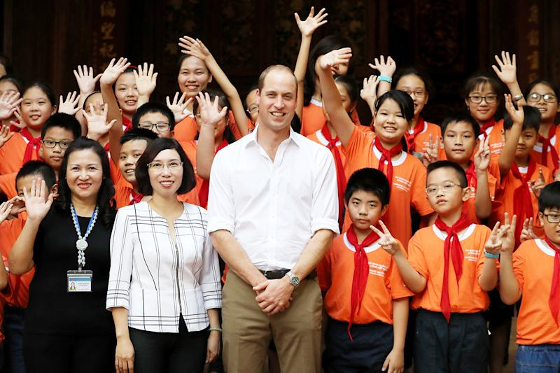 Prince WIlliam, the Duke of Cambridge, flew to Vietnam for two days as part of his campaign to end illegal trade of animal parts