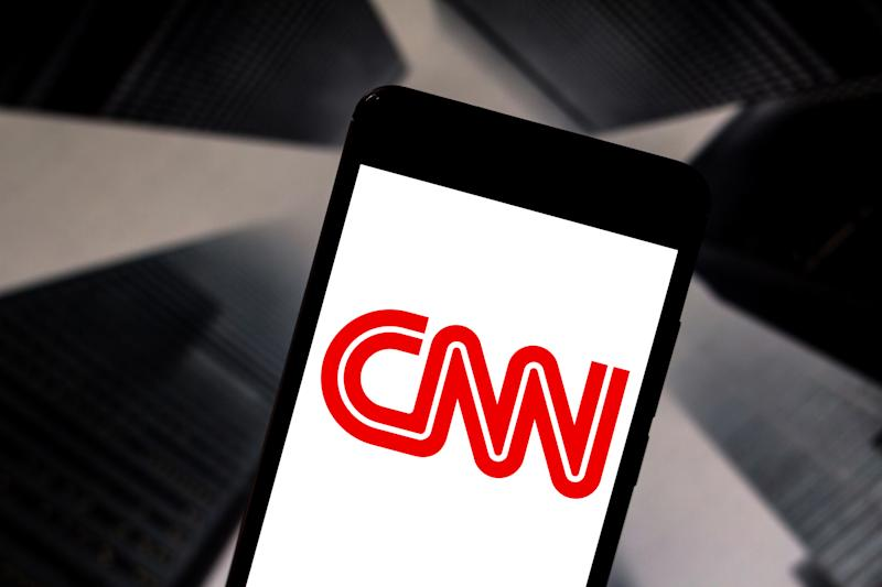 BRAZIL - 2019/05/21: In this photo illustration the Cable News Network (CNN) logo is seen displayed on a smartphone. (Photo Illustration by Rafael Henrique/SOPA Images/LightRocket via Getty Images)