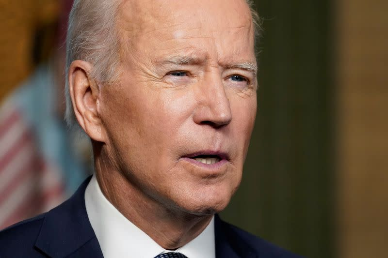 U.S. President Joe Biden delivers remarks on his plan to withdraw American troops from Afghanistan, at the White House