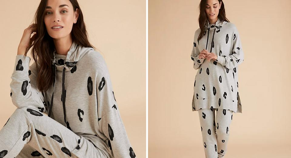 M&S has launched joggers and a pyjama top to match its popular Flexifit Animal Print Lounge Dress, and we predict they will sell out fast. (M&S)
