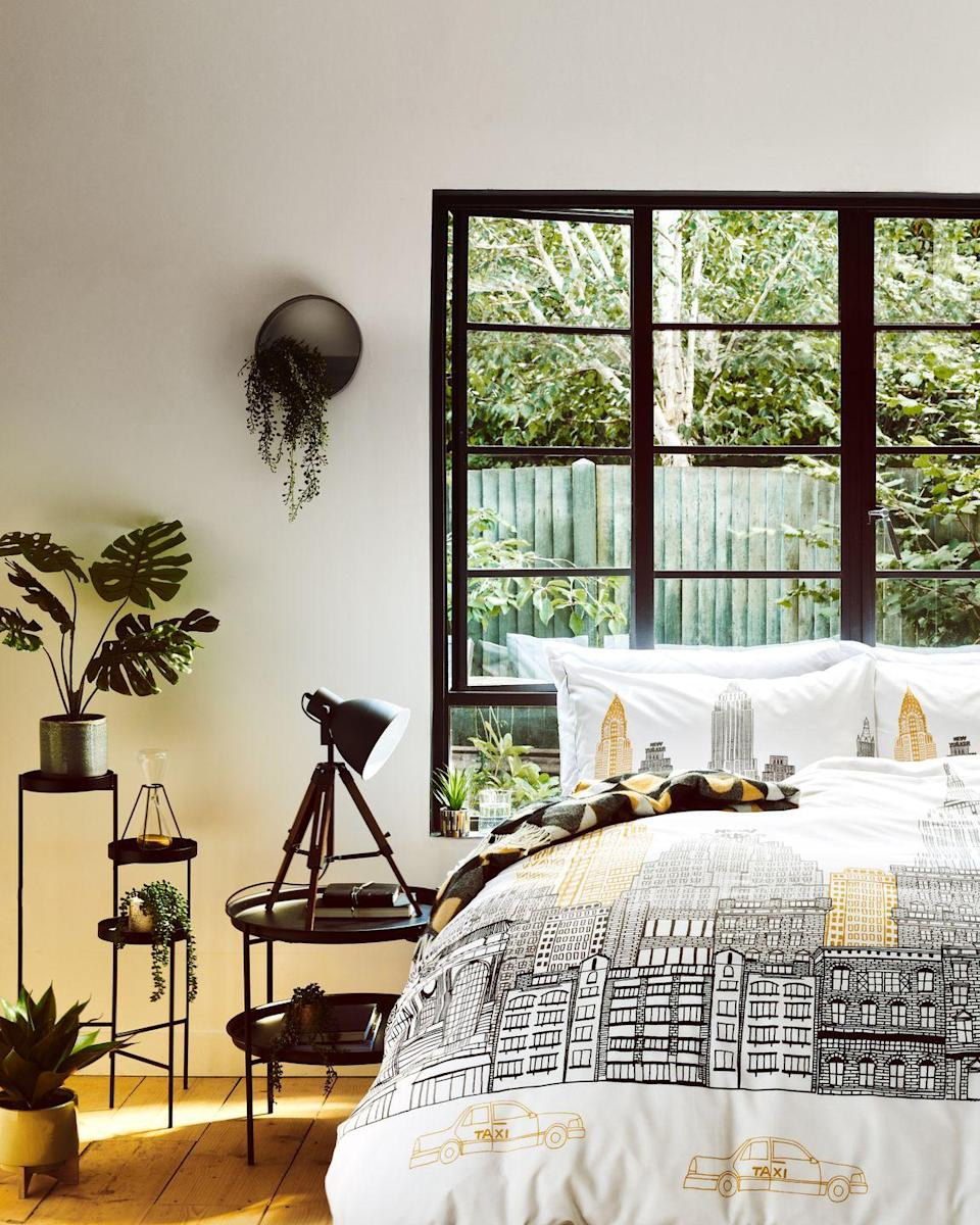 <p>'Loft Living channels the New York City charm favoured by trend-setters across the globe, blending utilitarian functionality with chic graphic detailing and a striking colour scheme,' explains David Hutcheson, Senior Designer, Home Accessories. </p>