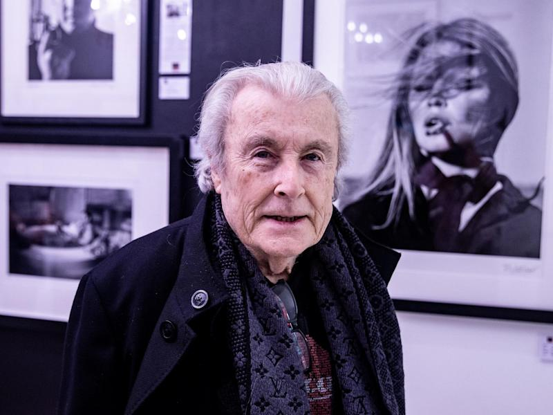 Celebrity photographer Terry O'Neill at Box Galleries, Chelsea, London, in March 2019: Rex