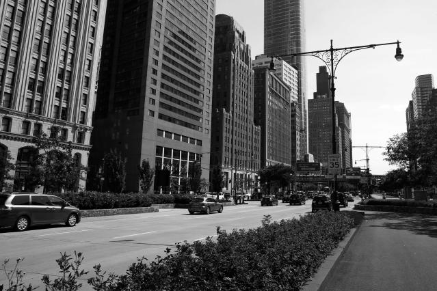 <p>West Street looking downtown across from the World Trade Center site on Aug. 20, 2017. (Photo: Gordon Donovan/Yahoo News) </p>