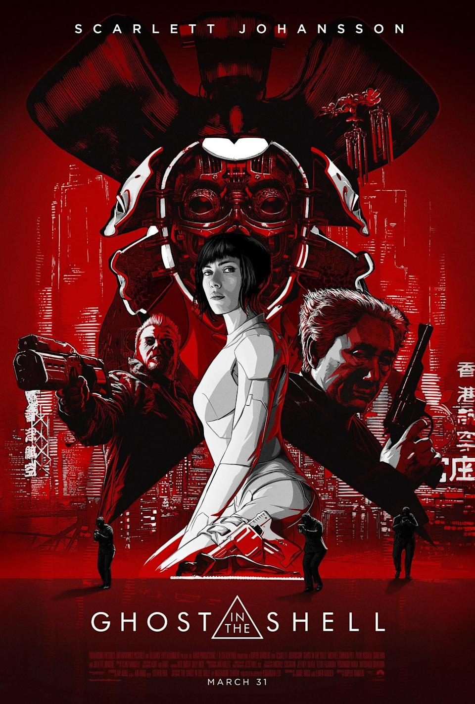 <p>Ghost In The Shell (Credit: Paramount Pictures) </p>