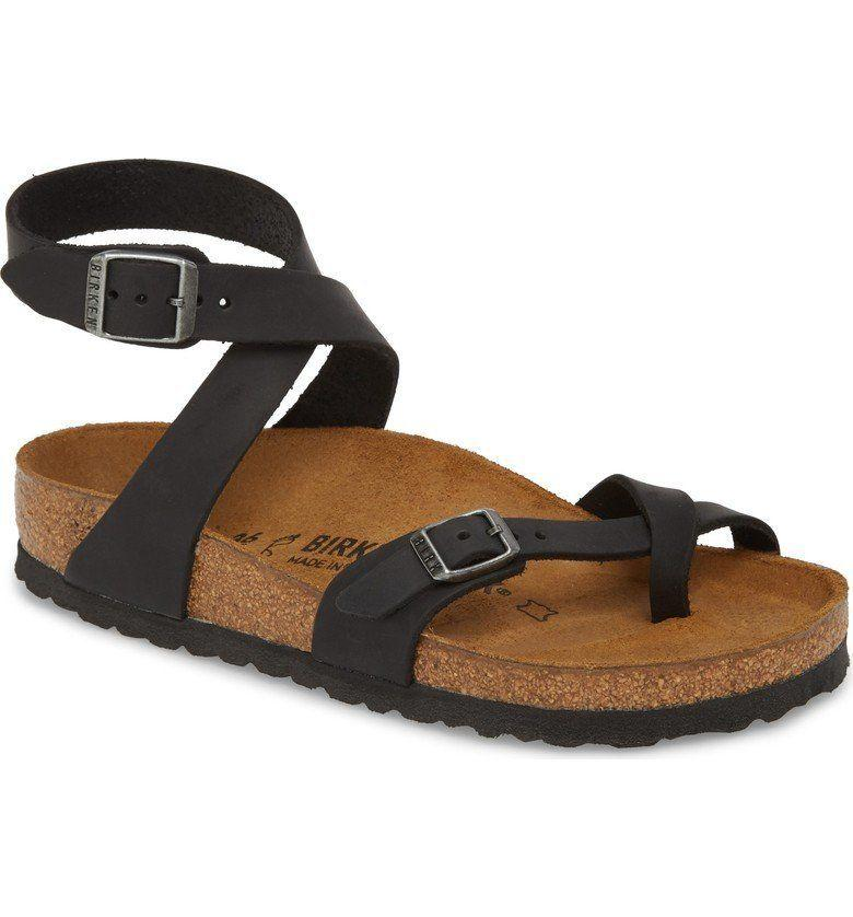 "Get it on <a href=""https://shop.nordstrom.com/s/birkenstock-yara-sandal-women/3971545?origin=keywordsearch-personalizedsort&color=tobacco%20oiled%20leather"" target=""_blank"">Nordstrom</a>, $125."