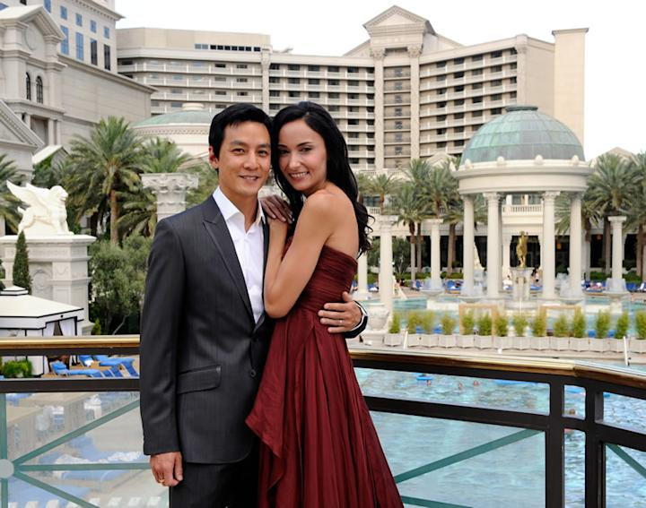 Daniel Wu and Lisa S celebrated their marriage in Las Vegas after the wedding in South Africa in 2010. (Getty Images)
