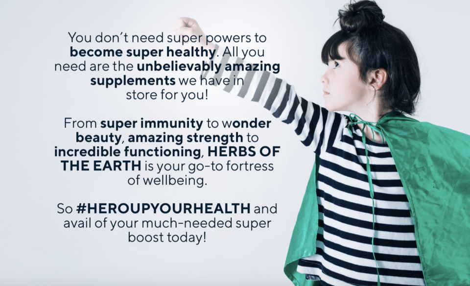 Herbs of the Earth: Stay healthy and strong. PHOTO: Lazada