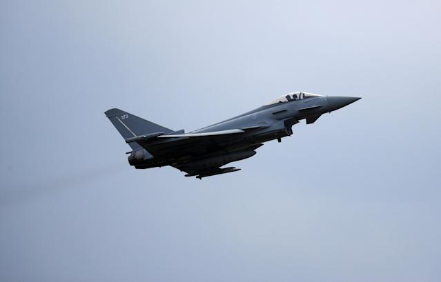Two RAF Typhoons were dispatched to the Jet2 plane, which was forced to turn around. (PA Images)