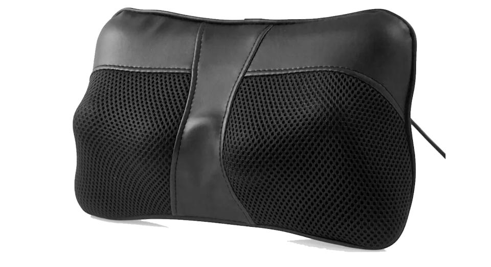 """Fancy a deep tissue massage without the huge price tag of hiring a masseuse? This massage cushion delivers just that. It's small, yet covers 4 pressure points that massage in rotating circles to ensure your muscles are thoroughly kneaded. There is an optional heat mode for those who suffer with really bad muscle pains, too. <a href=""""https://fave.co/31bocUH"""" rel=""""nofollow noopener"""" target=""""_blank"""" data-ylk=""""slk:Shop now"""" class=""""link rapid-noclick-resp""""><strong>Shop now</strong></a><strong>.</strong>"""