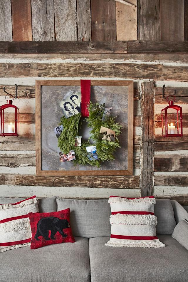 "<p>Placing old family photos into a <a rel=""nofollow"" href=""https://www.amazon.com/Northlight-Canadian-Artificial-Christmas-Wreath/dp/B074WC1MZN"">simple green wreath</a> is a great way to ""celebrate"" Christmas with family members who live far away or are no longer living.</p><p><a rel=""nofollow"" href=""https://www.amazon.com/Northlight-Canadian-Artificial-Christmas-Wreath/dp/B074WC1MZN"">SHOP WREATHS</a></p>"