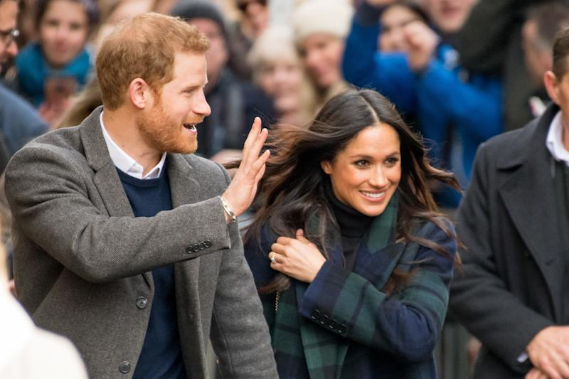 Prince Harry and Meghan Markle visit Social Bite, a Collaborative Movement to End Homelessness in Scotland, in Edinburgh, UK. (Photo by DPPA/Sipa USA)