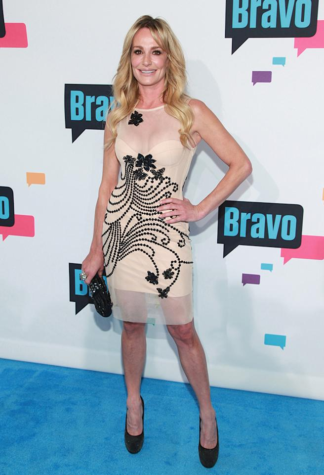 "NEW YORK, NY - APRIL 03:  TV personality Taylor Armstrong of ""The Real Housewives of Beverly Hills"" attends the 2013 Bravo Upfront at Pillars 37 Studios on April 3, 2013 in New York City.  (Photo by Taylor Hill/FilmMagic)"