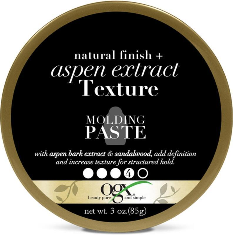 """<p>Don't be fooled by the creamy consistency of the Ogx Natural Finish + Aspen Extract Texture Molding Paste. It will give your hair a soft hold, but every strand will stay in place throughout the day. Staff editor <a href=""""http://allure.com/contributor/jihan-forbes"""" rel=""""nofollow noopener"""" target=""""_blank"""" data-ylk=""""slk:Jihan Forbes"""" class=""""link rapid-noclick-resp"""">Jihan Forbes</a> likes to use this one after smoothing down her hair with a little setting foam and then warming it up between her fingers before applying and brushing in.</p> <p><strong>$9</strong> (<a href=""""https://www.amazon.com/OGX-Natural-Extract-Texture-Molding/dp/B076S52SYJ"""" rel=""""nofollow noopener"""" target=""""_blank"""" data-ylk=""""slk:Shop Now"""" class=""""link rapid-noclick-resp"""">Shop Now</a>)</p>"""