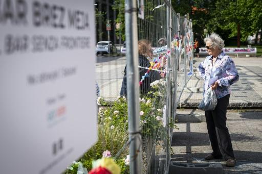 The fence was set up in March to prevent border crossings, but has whipped up memories of post-war barricades between Slovenia and Italy