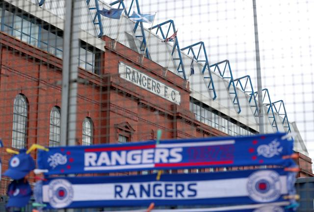 Soccer Football - Scottish Premiership - Rangers vs Kilmarnock - Ibrox, Glasgow, Britain - May 5, 2018 General view outside the stadium before the match REUTERS/Scott Heppell
