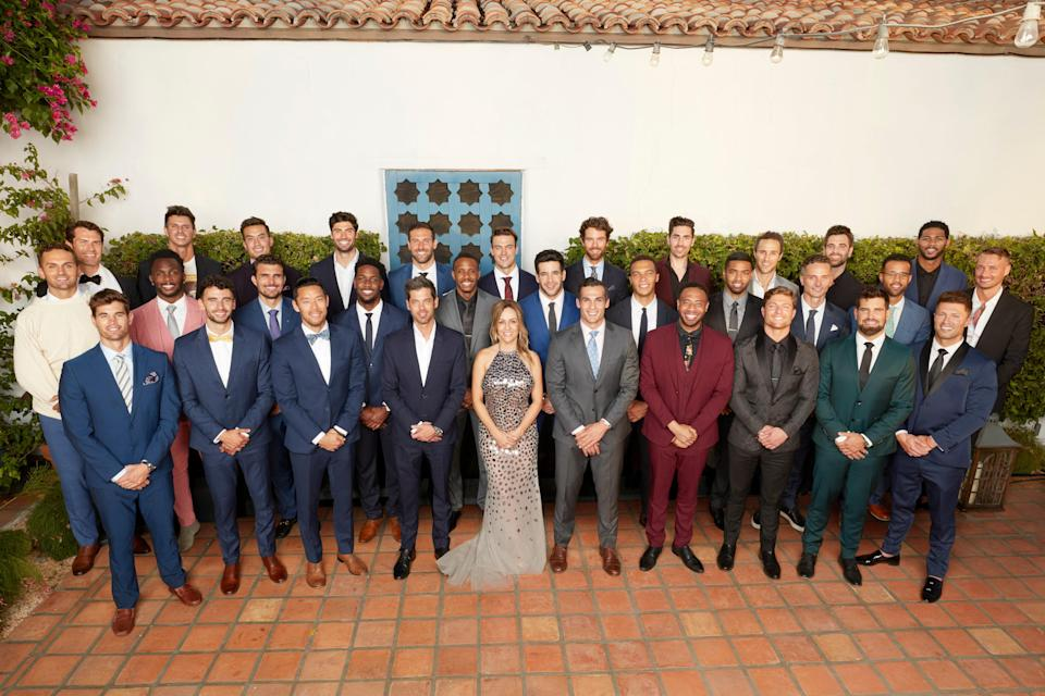 The men competing for Clare's heart on the new season of The Bachelorette.