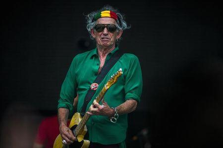 """Richards of the Rolling Stones performs during their """"14 on Fire"""" show at Waldbuehne in Berlin"""