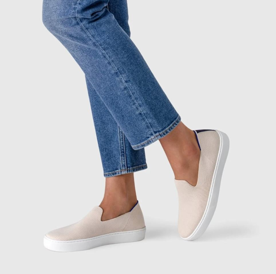 "<p>These machine-washable and eco-friendly <a href=""https://www.popsugar.com/buy/Rothy-Sneakers-454332?p_name=Rothy%27s%20Sneakers&retailer=rothys.com&pid=454332&price=125&evar1=fab%3Aus&evar9=45703865&evar98=https%3A%2F%2Fwww.popsugar.com%2Fphoto-gallery%2F45703865%2Fimage%2F45704085%2FRothy-Sneakers&list1=shopping%2Cshoes%2Ctravel%20style%2Ctravel%20outfits&prop13=api&pdata=1"" rel=""nofollow"" data-shoppable-link=""1"" target=""_blank"" class=""ga-track"" data-ga-category=""Related"" data-ga-label=""https://rothys.com/products/the-sneaker-sand"" data-ga-action=""In-Line Links"">Rothy's Sneakers</a> ($125) are more comfortable than you can even imagine.</p>"