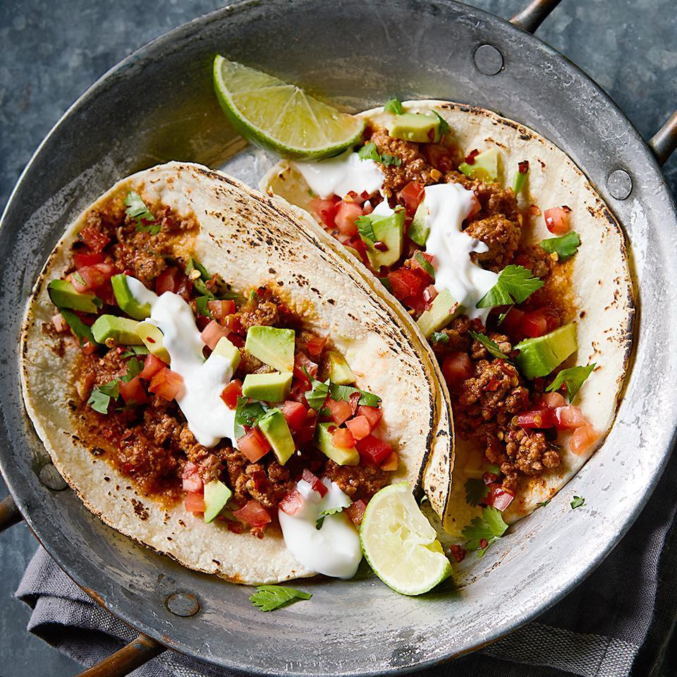 <p>These spicy chipotle tacos are the perfect choice for your next taco night. You can substitute ground turkey for the beef if you'd like, but either way, you'll want to make sure each bite includes a bit of the homemade pico de gallo.</p>