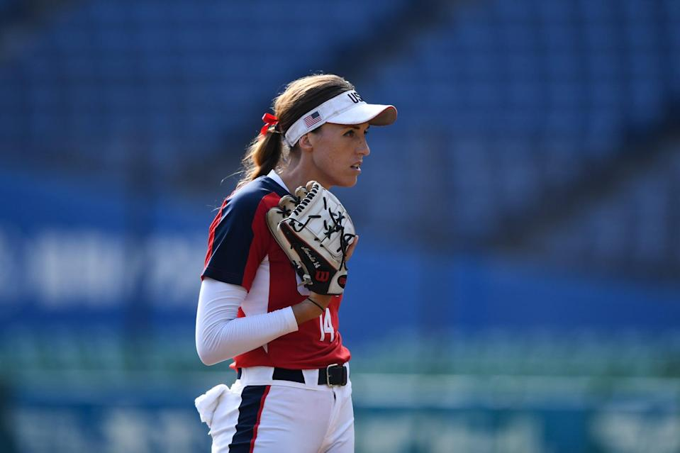 """<p>In 2016, Abbott became the first American woman athlete in a team sport to sign a $1 million contract when she signed with the Scrap Yard Dawgs of the National Pro Fastpitch League (NPF). She told ESPN at the time that the contract """"<a href=""""https://www.espn.com/espnw/sports/story/_/id/15464430/pitcher-monica-abbott-signs-1-million-contract-national-pro-fastpitch-expansion-team"""" class=""""link rapid-noclick-resp"""" rel=""""nofollow noopener"""" target=""""_blank"""" data-ylk=""""slk:represents an opportunity"""">represents an opportunity</a> for the younger players in our game . . . For me, that's what I see in this deal. I see opportunities for other athletes, for the college girls coming in [to the league], for the college freshmen, for the 12-year-olds. I see opportunities for them to only be a professional softball player. To not have to have another career, another job. Hopefully it just raises the bar of our sport."""" </p> <p>Abbott still plays for the team, which <a href=""""https://www.popsugar.com/fitness/this-is-us-softball-team-formed-in-support-racial-justice-47617392"""" class=""""link rapid-noclick-resp"""" rel=""""nofollow noopener"""" target=""""_blank"""" data-ylk=""""slk:became This Is Us Softball"""">became This Is Us Softball</a> to support racial justice in 2020.</p>"""
