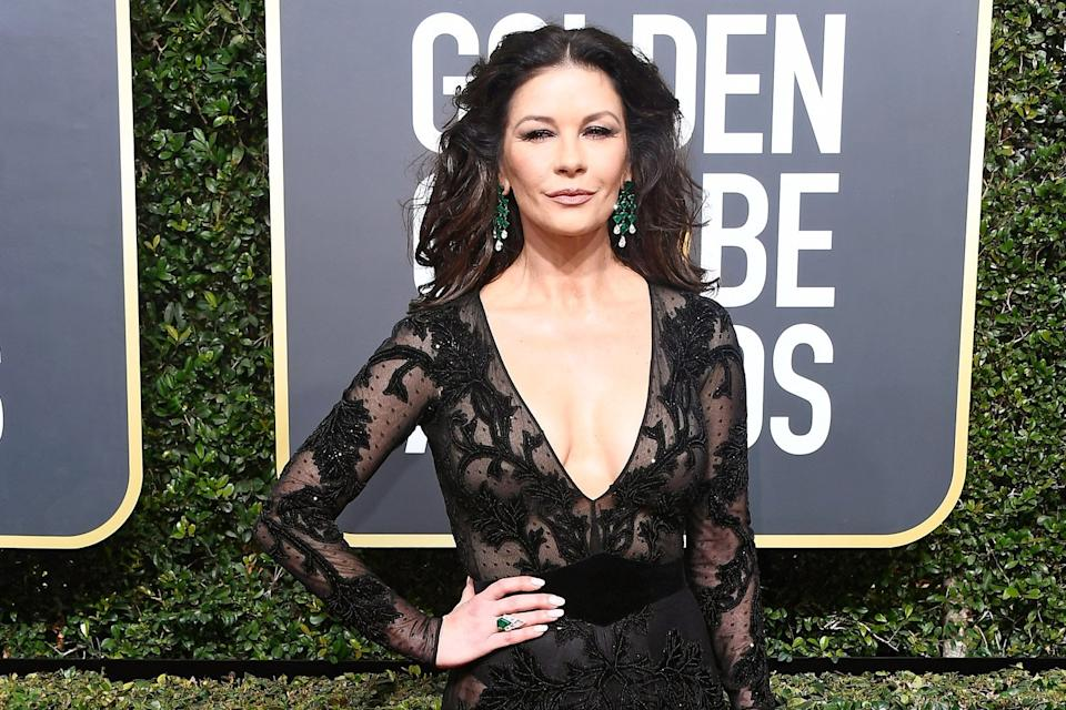 Catherine Zeta-Jones has hurt her foot