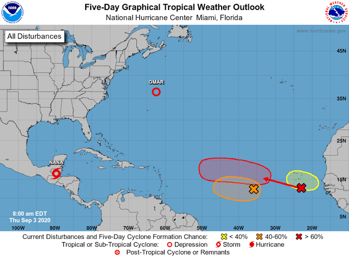 The National Hurricane Center is tracking three tropical waves, one of which has a 70% chance of forming into a tropical depression in the next week.