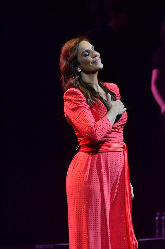 NEWARK, NJ - AUGUST 17: Brazilian singer Ivete Sangalo performs during the Real Fantasia Tour 2013 at Prudential Center on August 17, 2013 in Newark, New Jersey. (Photo by Brian Killian/Getty Images)