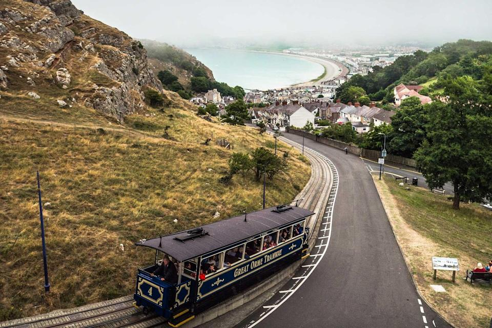 Great Orme Tramway in Wales, UK