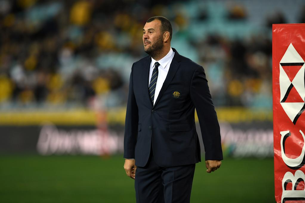 Australia's head coach Michael Cheika. (AFP Photo/SAEED KHAN)