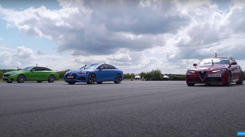 Giulia Quadrifoglio Drag Races M4 And RS5
