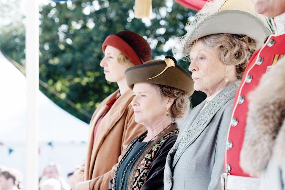 Laura Carmichael, Imelda Staunton and Maggie Smith in 'Downton Abbey' (Photo: Focus Features / courtesy Everett Collection)